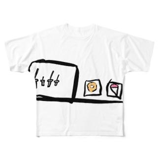 フェンシングとドーナツとアイスクリームとかき氷 Full graphic T-shirts