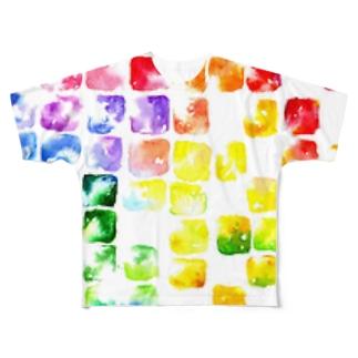 虹色硝子 Full graphic T-shirts