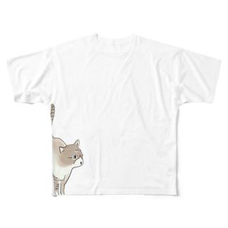 猫のオスカーさん Full graphic T-shirts