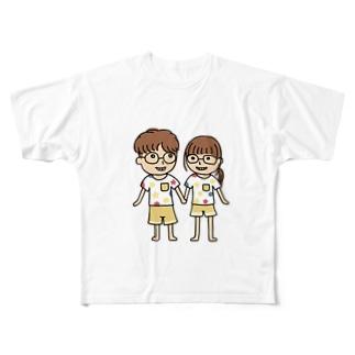 Soragasukiのカップル Full graphic T-shirts