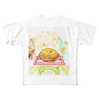 ふわふわパンケーキ Full graphic T-shirts
