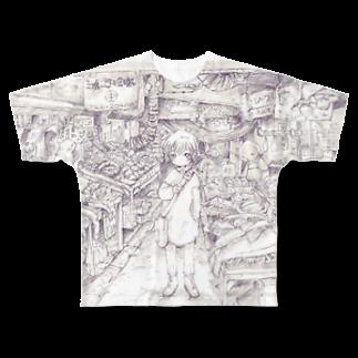 ROBOの不思議な市場 Full graphic T-shirts