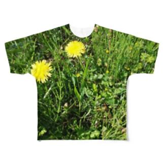 雑草にまぎれるTシャツ Full graphic T-shirts