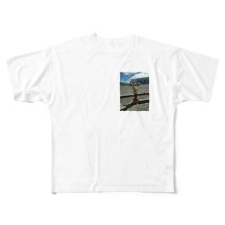 田舎に居るよね? Full graphic T-shirts