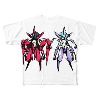 レッドVSブルー Full graphic T-shirts