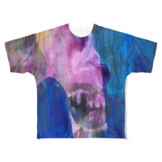 Gold purple and blue Full graphic T-shirts