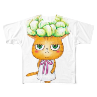 ちーちゃんシリーズ☆多肉植物 Full graphic T-shirts