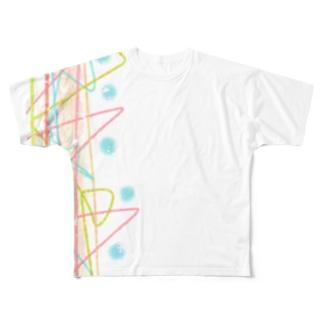 せきね まりののパステルキラキラ達🌈 Full Graphic T-Shirt