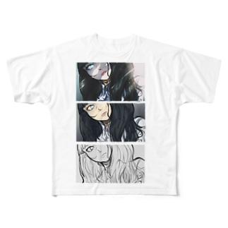 イラスト過程 プリントTシャツ Full graphic T-shirts