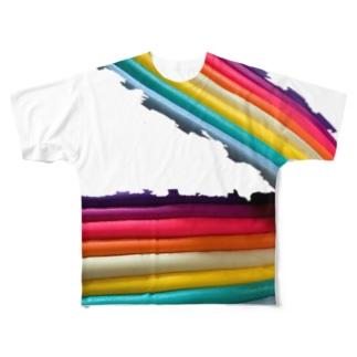 レインボー Full graphic T-shirts