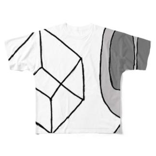 リトルグレイのりとる君 四次元 Full graphic T-shirts