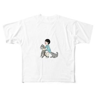 tabiharuの幼なじみ Full graphic T-shirts