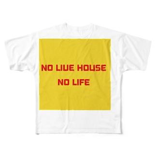 NO LIVE HOUSE NO LIFE Full graphic T-shirts
