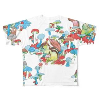 リス Full graphic T-shirts