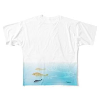 【1周年】kameさんデザイン(両面ver.) Full graphic T-shirts