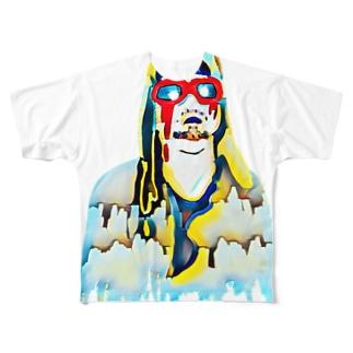 ぐにゃっとしたアート Full graphic T-shirts