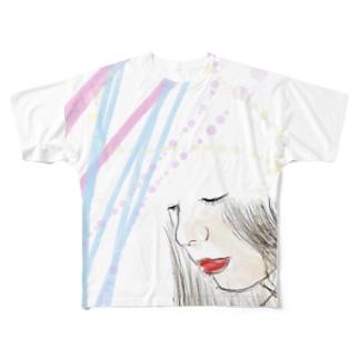 美人さん Full graphic T-shirts