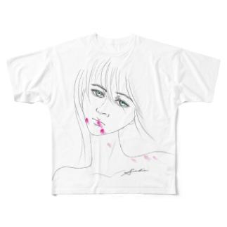 Lipstick_blood Full graphic T-shirts