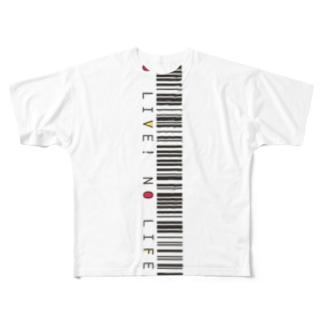 NO LIVE! NO LIFE! Full graphic T-shirts