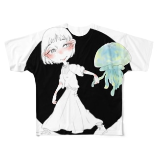 きみとさんぽ Full graphic T-shirts