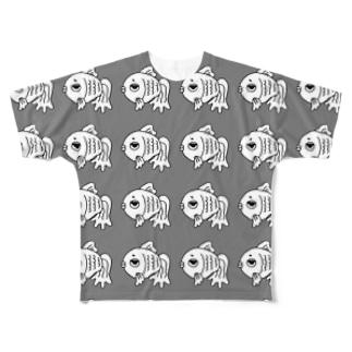 shop-rちゃんアンニュイグレー Full graphic T-shirts