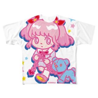 ONNANOKO【Pink】 Full Graphic T-Shirt