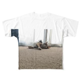 猫のいる生活 Full graphic T-shirts