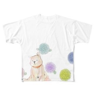 丸花と柴子 Full graphic T-shirts