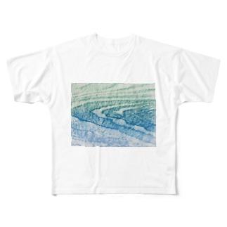 水面Ⅴ Full graphic T-shirts