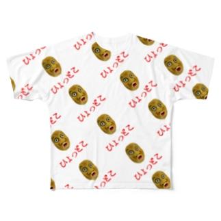 ヒョットコドット Full graphic T-shirts