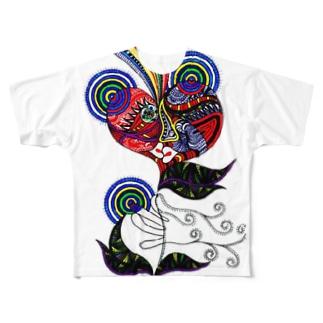 告白 Full graphic T-shirts