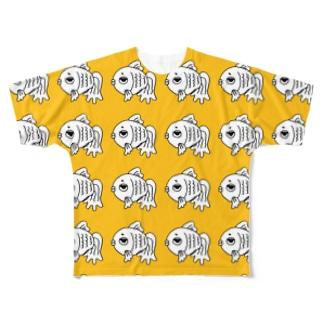 shop-rちゃんめっちゃイエロー Full graphic T-shirts