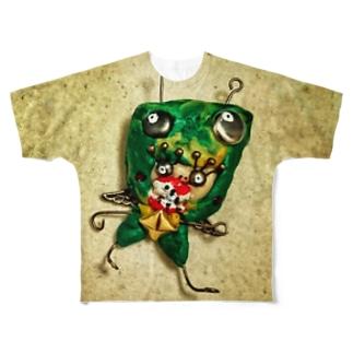 カマキリ チャ🌱チャ🌱チャ Full graphic T-shirts