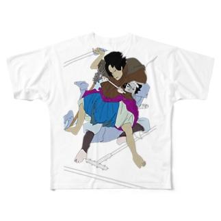 主張の強い添景シリーズー水滸伝 文字なし Full graphic T-shirts
