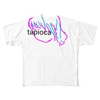 タピオカ好きすぎ! Full graphic T-shirts