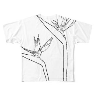 極楽鳥花 Full graphic T-shirts