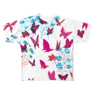 蝶 Full graphic T-shirts
