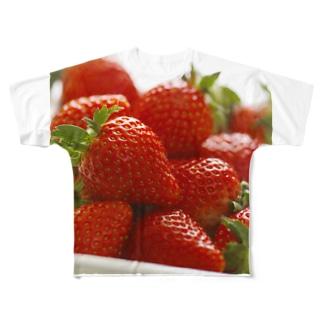 山積みいちご Full graphic T-shirts