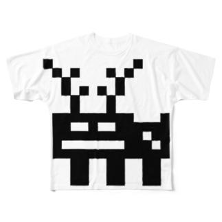 まあ確実にシカ Full graphic T-shirts