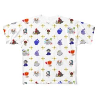 ゾワゾワ洋ゆーれい Full graphic T-shirts