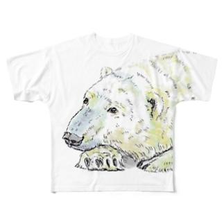 しろくまのろっくまん。 Full graphic T-shirts