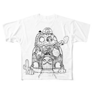 かめさんカフェへようこそ  Full graphic T-shirts