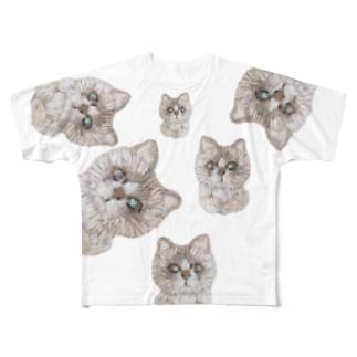 偽物ラグちゃんをさがせ Full graphic T-shirts