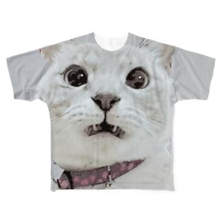 くちゃい顔 両面 Full graphic T-shirts