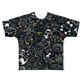 大暴れ Full graphic T-shirts