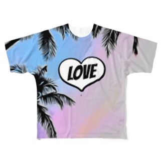 Love beach Full graphic T-shirts