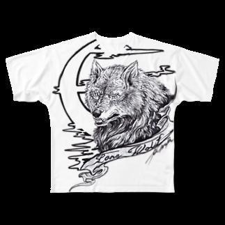 MinoriのLone Wolf Full graphic T-shirts