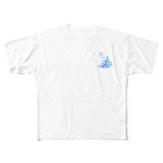 水彩E Full graphic T-shirts