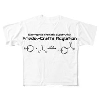 フリーデル・クラフツ アシル化反応(有機化学) Full graphic T-shirts