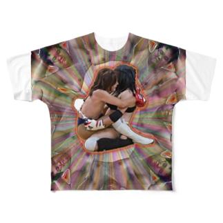 変態曼荼羅 Full graphic T-shirts